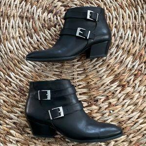 Franco Sarto Quartet Leather Bootie in black 8M